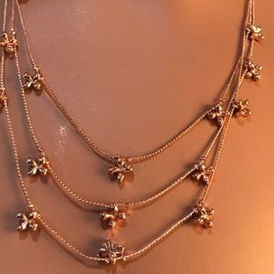Jewelry - TRIPLE LAYER NECKLACE AND EARRINGS